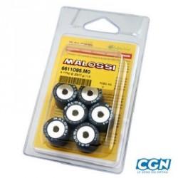JEU 6 GALETS MALOSSI 16X13 PEUGEOT/PIAGGIO 3,3GR