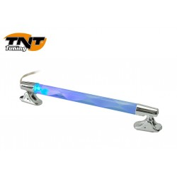 TUBE A LEDS SPIRAL CHROME LED ROUGE/BLEU