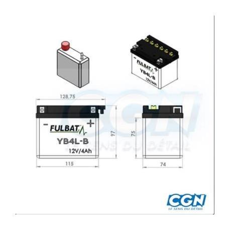 BATTERIE GEL ACSA 12V 4A MG4L-B (YB4L-B)