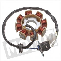 STATOR D'ALLUMAGE CHINA GY6/PEUGEOT/SYM 4 TEMPS 50CC EURO 4