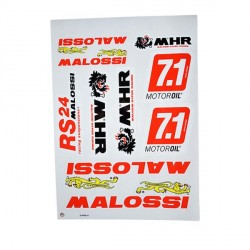 PLANCHE AUTOCOLLANTS MALOSSI 25X35CM