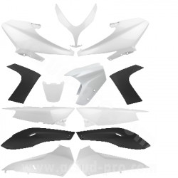 KIT CARROSSERIE ADAPT. YAMAHA TMAX 500CC (2008-2012) WHITE COMPETITION 13 PIECES
