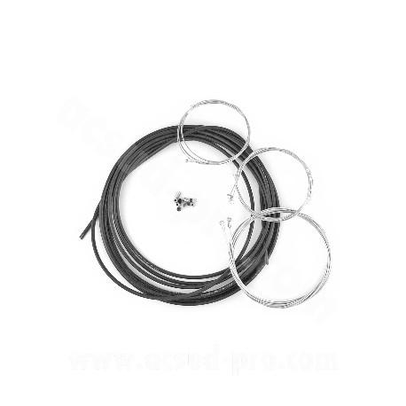 POCHETTE GAINE NOIRE & CABLES + BUTEES POUR CYCLO