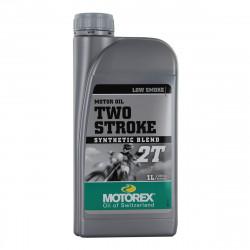 HUILE MOTOREX SYNTHETIC BLEND 2 TEMPS 1L (LOW SMOKE)