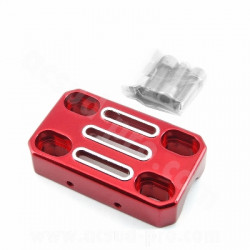 PAIRE PONTETS LIGHTY 55/70 ROUGE ANODISE