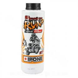 HUILE IPONE 2T SCOOT RUN2 100% SYNTHESE (1 LITRE)