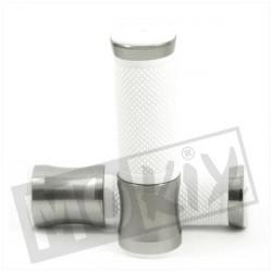 POIGNEES CNC ARGENT/BLANC (PAIRE)