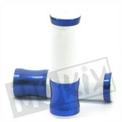 POIGNEES CNC BLEU/BLANC (PAIRE)