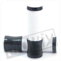 POIGNEES CNC NOIR/BLANC (PAIRE)