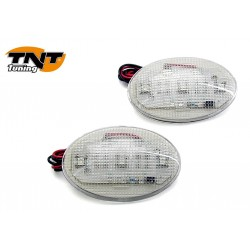 PAIRE LAMPES A COLLER OVALE TRANSPARENT
