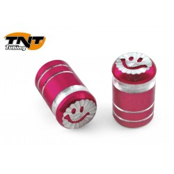 BOUCHONS VALVE SMILE ROUGE ANODISE
