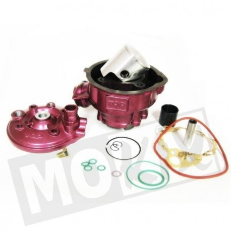 CYLINDRE COMPLET D.49,5MM DUE + ADAPT MINARELLI AM6/RS50 RACING FONTE
